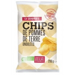 CHIPS NATURES ONDULEES 200G
