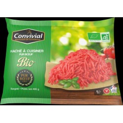 HACHE A CUISINER BOEUF 15%MG 400G