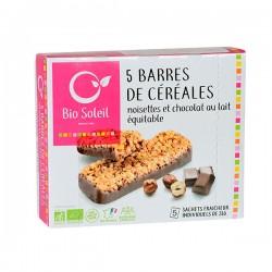 BARRE CEREALE CHOCO LAIT NOISETTES 130G