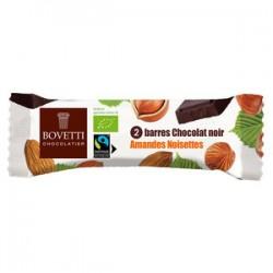 BARRE CHOCOLAT NOIR AMANDE NOISETTE 40G