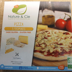 PIZZA 3 FROMAGES SANS GLUTEN 250GRS