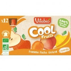 PACK FAMILIAL COOL FRUIT PÊCHE ABRICOT 12X90GRS