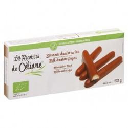 BISCUITS LONGS ENROBÉS DE CHOCOLAT AU LAIT 130GRS