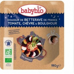 PUREE BETTERAVE TOMATE CHEVRE BOULGOUR 190G