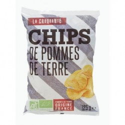 CHIPS CROQUANTES NATURE 125G