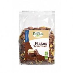 FLAKES TROIS CHOCOLATS 400GRS